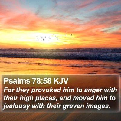 Psalms 78:58 KJV Bible Verse Image