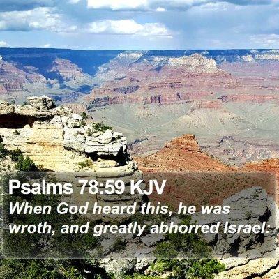 Psalms 78:59 KJV Bible Verse Image