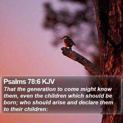Psalms 78:6 KJV Bible Verse Image