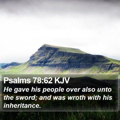 Psalms 78:62 KJV Bible Verse Image
