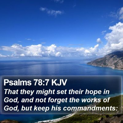 Psalms 78:7 KJV Bible Verse Image