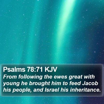 Psalms 78:71 KJV Bible Verse Image