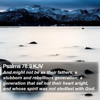 Psalms 78:8 KJV Bible Verse Image