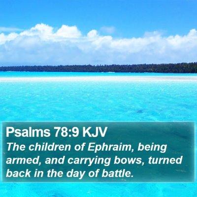Psalms 78:9 KJV Bible Verse Image