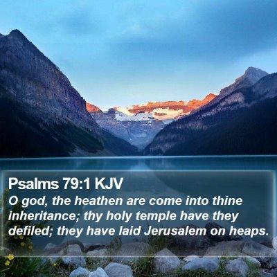 Psalms 79:1 KJV Bible Verse Image