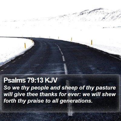 Psalms 79:13 KJV Bible Verse Image