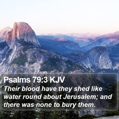 Psalms 79:3 KJV Bible Verse Image