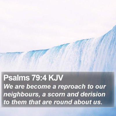 Psalms 79:4 KJV Bible Verse Image