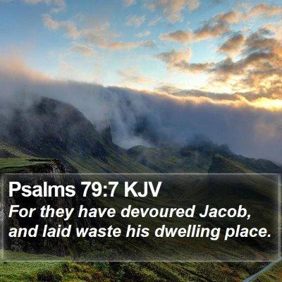 Psalms 79:7 KJV Bible Verse Image
