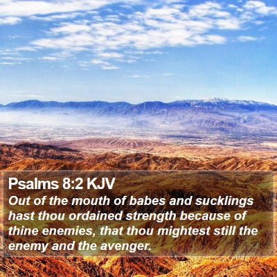 Psalms 8:2 KJV Bible Verse Image