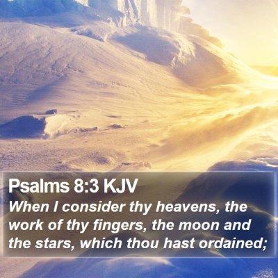 Psalms 8:3 KJV Bible Verse Image