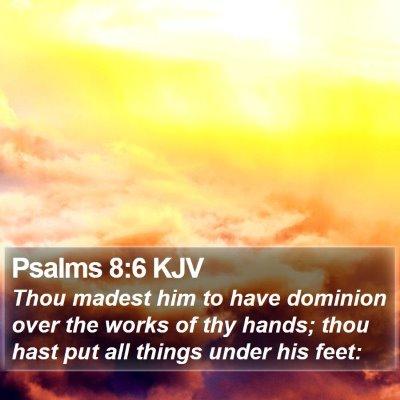 Psalms 8:6 KJV Bible Verse Image