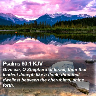 Psalms 80:1 KJV Bible Verse Image