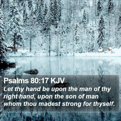 Psalms 80:17 KJV Bible Verse Image