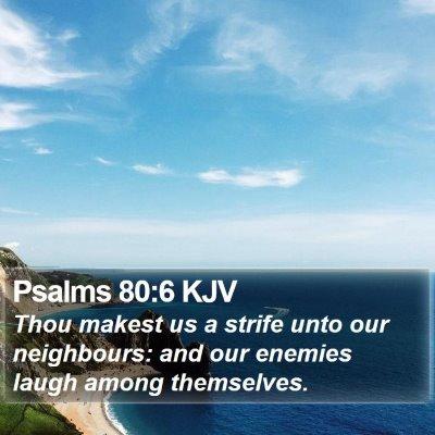 Psalms 80:6 KJV Bible Verse Image