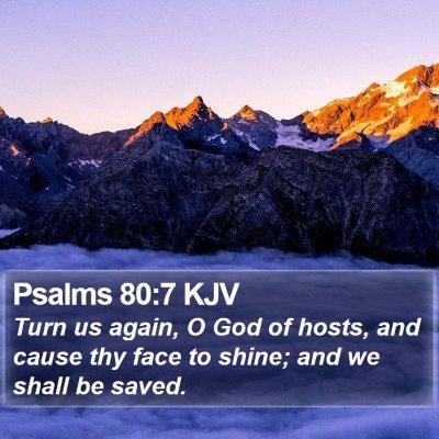 Psalms 80:7 KJV Bible Verse Image