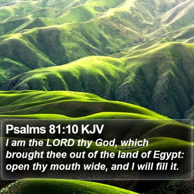 Psalms 81:10 KJV Bible Verse Image