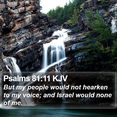 Psalms 81:11 KJV Bible Verse Image