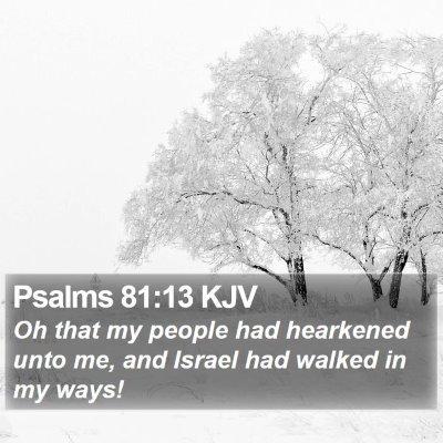 Psalms 81:13 KJV Bible Verse Image