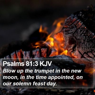 Psalms 81:3 KJV Bible Verse Image