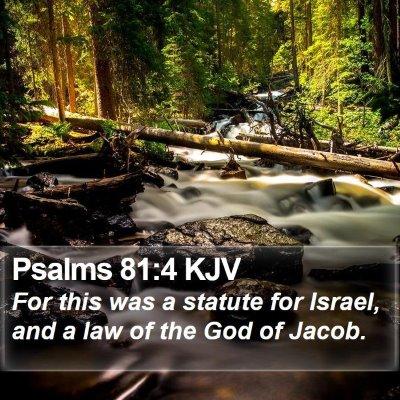 Psalms 81:4 KJV Bible Verse Image