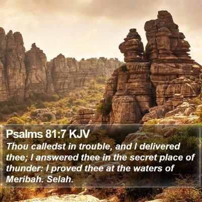 Psalms 81:7 KJV Bible Verse Image