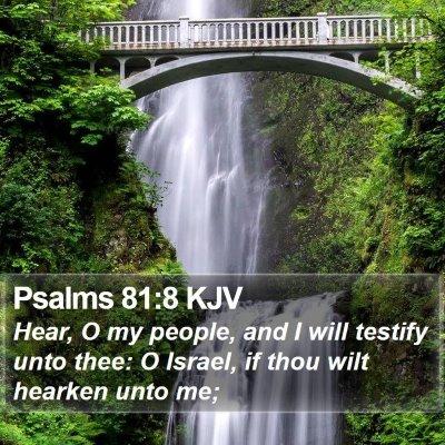 Psalms 81:8 KJV Bible Verse Image