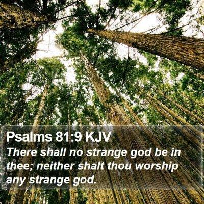 Psalms 81:9 KJV Bible Verse Image
