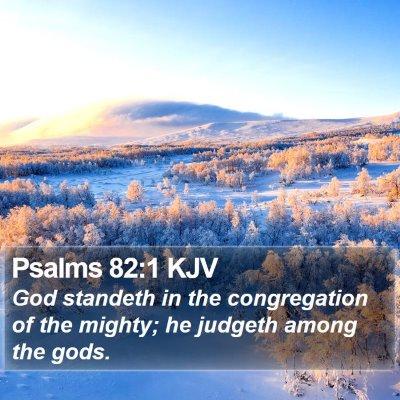 Psalms 82:1 KJV Bible Verse Image