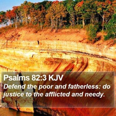 Psalms 82:3 KJV Bible Verse Image