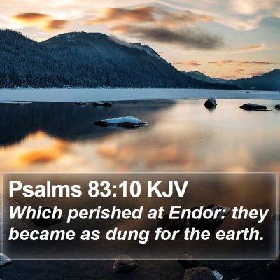 Psalms 83:10 KJV Bible Verse Image