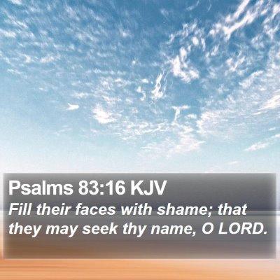 Psalms 83:16 KJV Bible Verse Image
