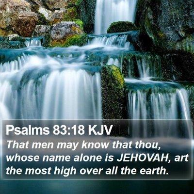 Psalms 83:18 KJV Bible Verse Image