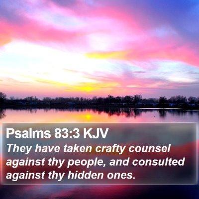 Psalms 83:3 KJV Bible Verse Image