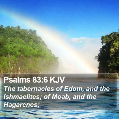 Psalms 83:6 KJV Bible Verse Image