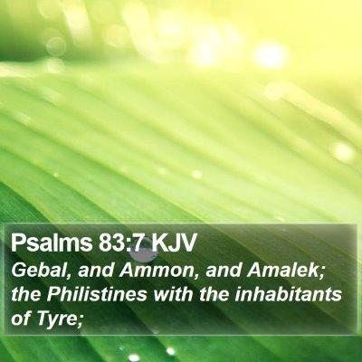 Psalms 83:7 KJV Bible Verse Image