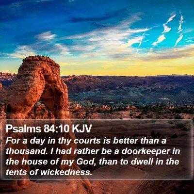 Psalms 84:10 KJV Bible Verse Image