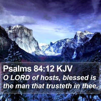 Psalms 84:12 KJV Bible Verse Image
