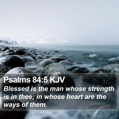 Psalms 84:5 KJV Bible Verse Image