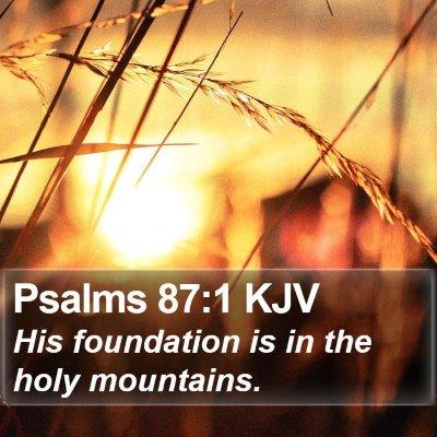 Psalms 87:1 KJV Bible Verse Image