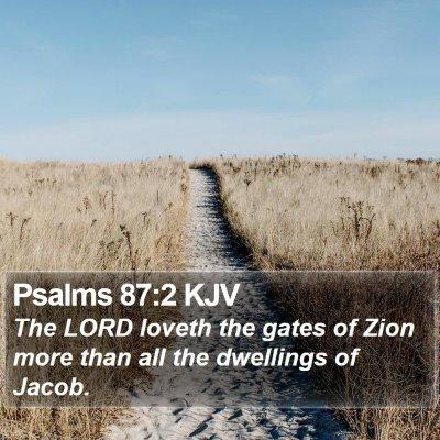 Psalms 87:2 KJV Bible Verse Image