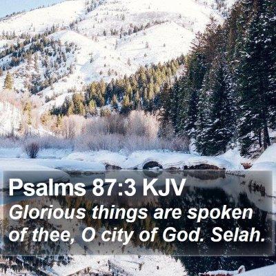 Psalms 87:3 KJV Bible Verse Image