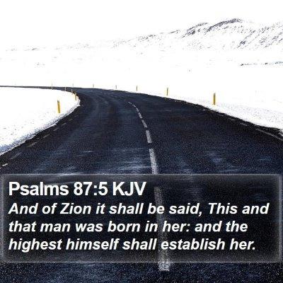 Psalms 87:5 KJV Bible Verse Image