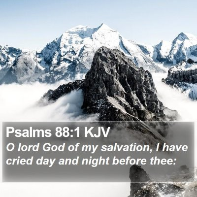 Psalms 88:1 KJV Bible Verse Image