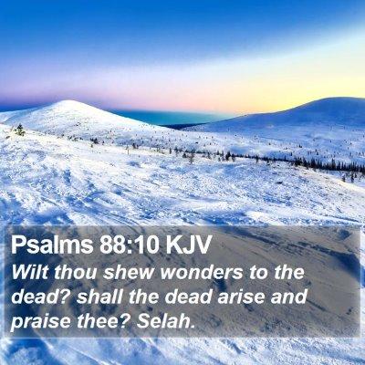 Psalms 88:10 KJV Bible Verse Image