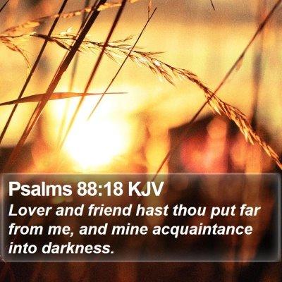 Psalms 88:18 KJV Bible Verse Image