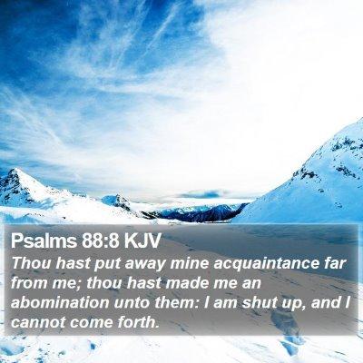Psalms 88:8 KJV Bible Verse Image