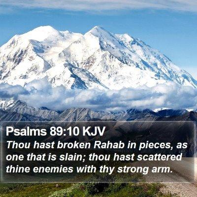 Psalms 89:10 KJV Bible Verse Image