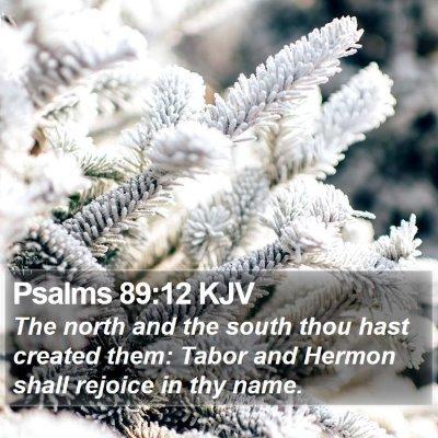 Psalms 89:12 KJV Bible Verse Image