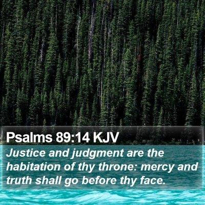Psalms 89:14 KJV Bible Verse Image